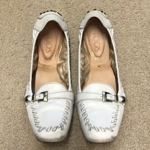 White Tod's loafers